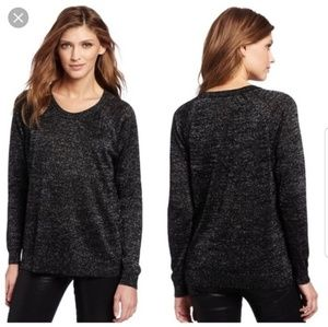"Joie ""Ida"" Metallic Woven Sweater, Size M"